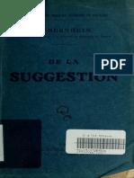 De La Suggestion Bernheim h Hippolyte 1840 1919
