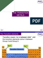 KS4 Transition Metals
