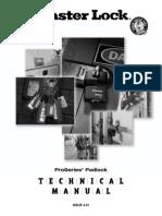 MasterLock Pro Series Padlock Technical Manual (v4.01)
