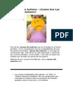 Sintomas de Autismo - Descubre Las Principales Causas de Autismo