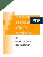 Un modelo de referencia para la gestión del mantenimiento. 2008
