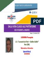 INDIRE DIDATEC SOS STUDENTI - Ligouras Panagiote Napoli 10-10-2013