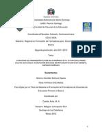 Tesis Formación de Formadores 2011-13