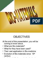 Bio-materials - Presentation