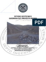 Estudio Geotécnico Proyecto Refimin-Quebrada Rut