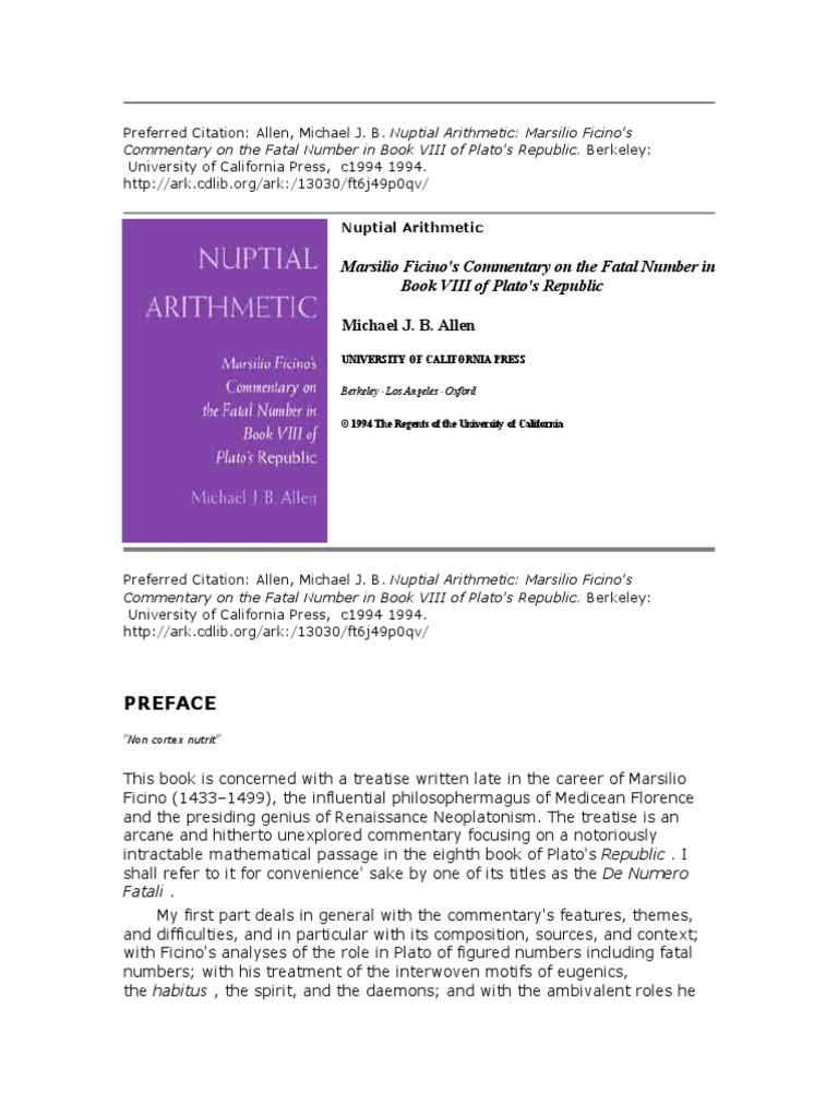Colori In Luce Correggio 35315464 marsilio ficino s commentary on the fatal number in