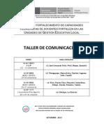 Pista Taller Comunicación para UGEL Chiclayo