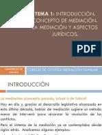 VE13056_ VE13056_ TEMA 1.Introducción. Concepto de Mediación. La mediación y sus aspectos jurídicos