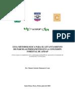 Guia Metodologica Para El Levantamiento de Parcelas Permanentes en La Concesion Forestal de AFISAP