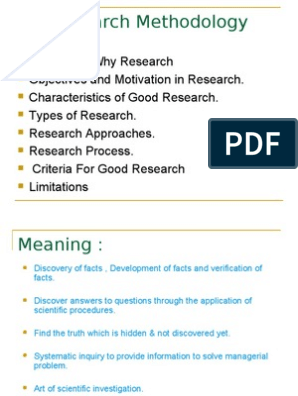 Research Methodology | Scientific Method | Hypothesis