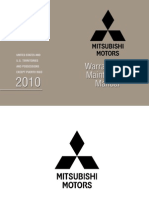 2010 Pass Car and Suv Warranty Booklet