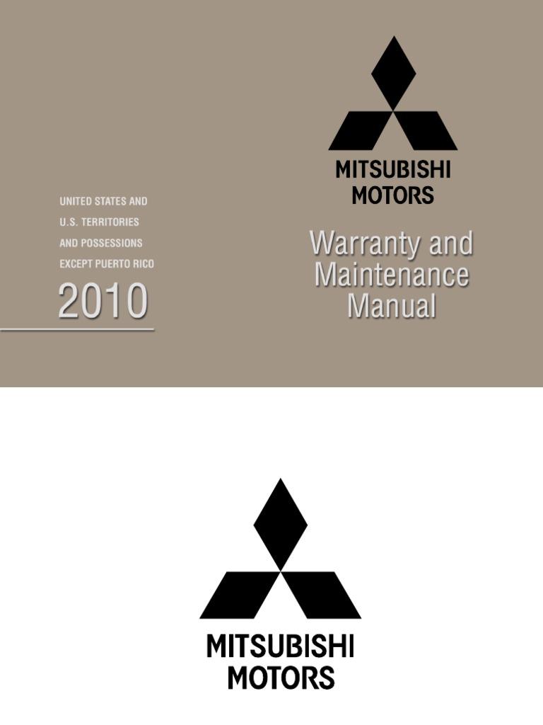 2010 pass car and suv warranty booklet throttle transmission rh scribd com Mitsubishi Split System Warranty Mitsubishi Split System Warranty