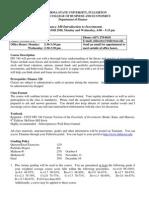 FIN340 Ajay Bhootra syllabus MW 4-00