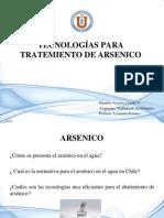 TECNOLOGÍAS PARA TRATEMIENTO DE ARSENICO