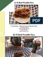 Beef Picadillo Taco at La Casita Tacos in West End Vancouver British Columbia