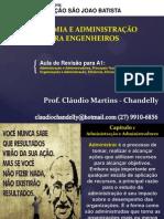 Aula - Revisão - Economia - Eng. Mecânica