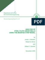 00 - Analysis of SPSW Using the Midified Strip Model (Alberta)