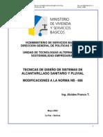 Drenaje - Tecnicas de diseño de sistemas de alcantarillado