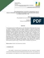 Desafios Da Gestao Democratica Na Escola Estudo de Caso Na Escola Municipal Do Ensino Fundamental Senador Josa Sarney Cacimba de Dentro a Pb 1343925807