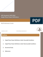 IEEE Std 1459-2010 Single Phase Power Definitions