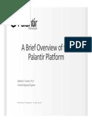 A Brief Overview of the l ilf Palantir Platform