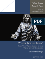 2012 - Michael D. Eldridge - Whose Jewish Jesus? - Part Two. Three Voices in the Third Quest Compared
