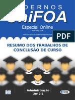 Resumo dos Trabalhos de Conclusão de Curso de Administracao_2012-2