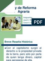 Presentación_Ley de reforma Agraria