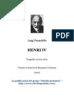 Luigi Pirandello Henry IV