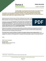 CMIA Press Release - 8 July, 2009