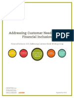 Addressing Customer Needs for Full Financial Inclusion