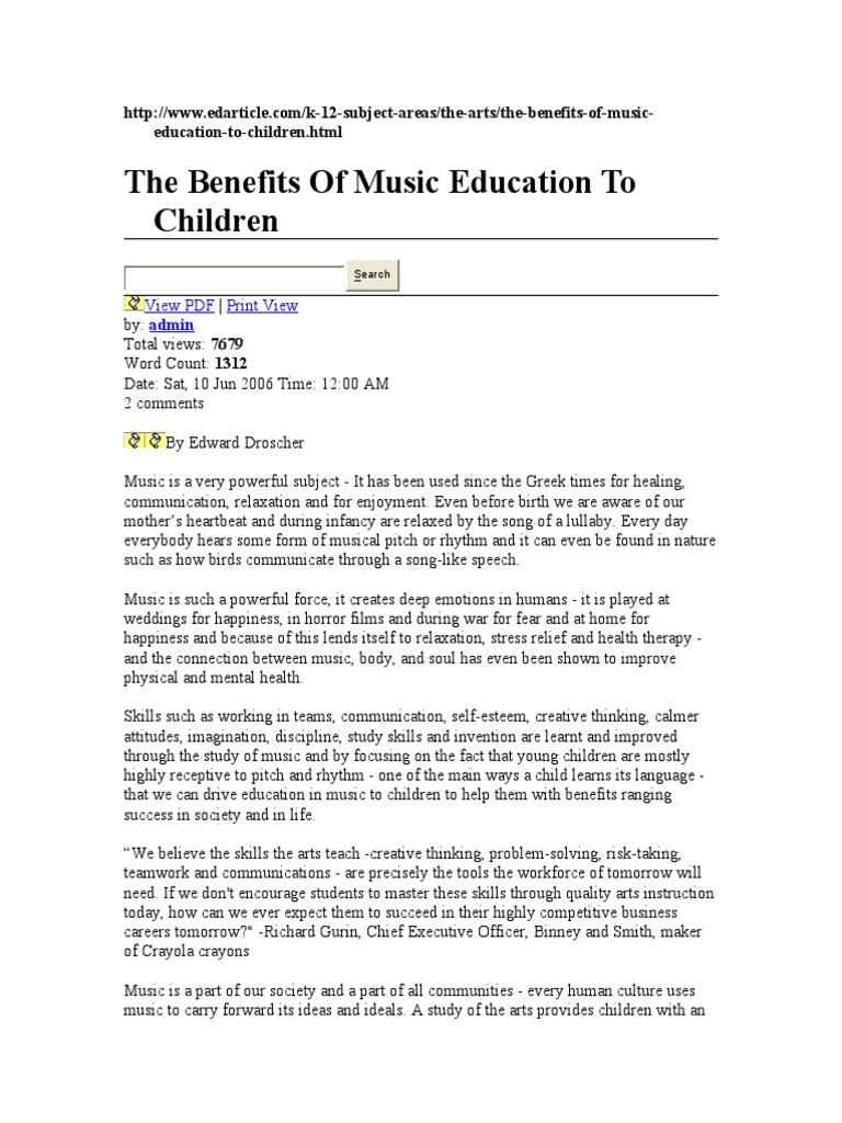 Benefit of Music | Intelligence | Empathy