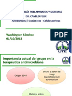 Washington Sánchez - Antibióticos β-lactámicos - Cefalosporinas