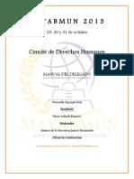 Manual Derechos Humanos Mayabmun 2013
