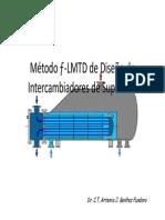 Método ƒ-LMTD de Diseño de Intercambiadores de Superficie