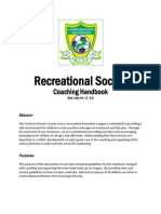 Coaches Handbook Recreational Soccer