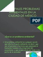PRINCIPALES PROBLEMAS AMBIENTALES EN LA CIUDAD DE MÉXICO