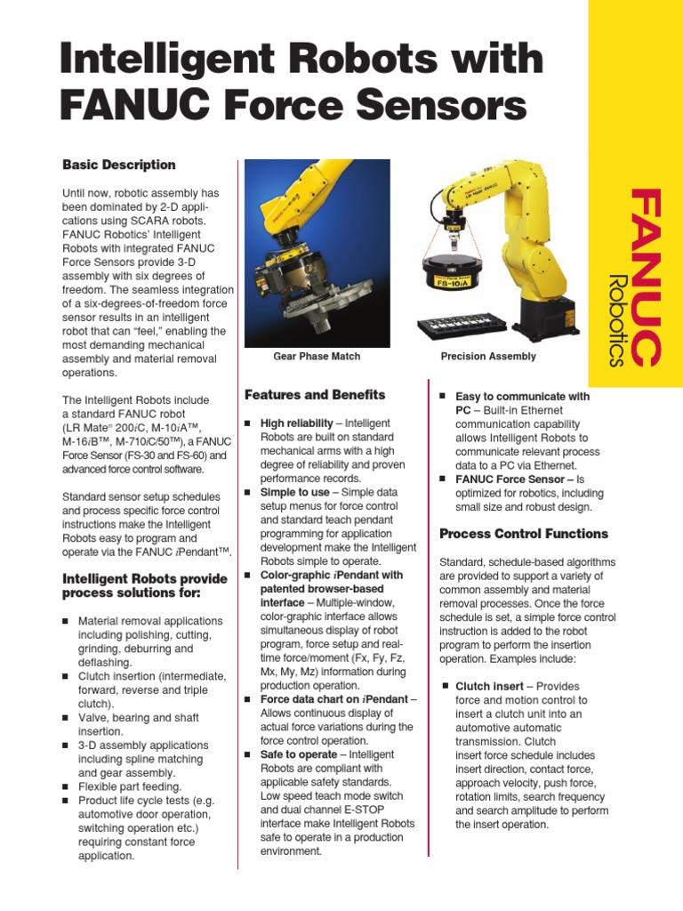 Intelligent Robots With FANUC Force Sensors | Robot | Tecnología
