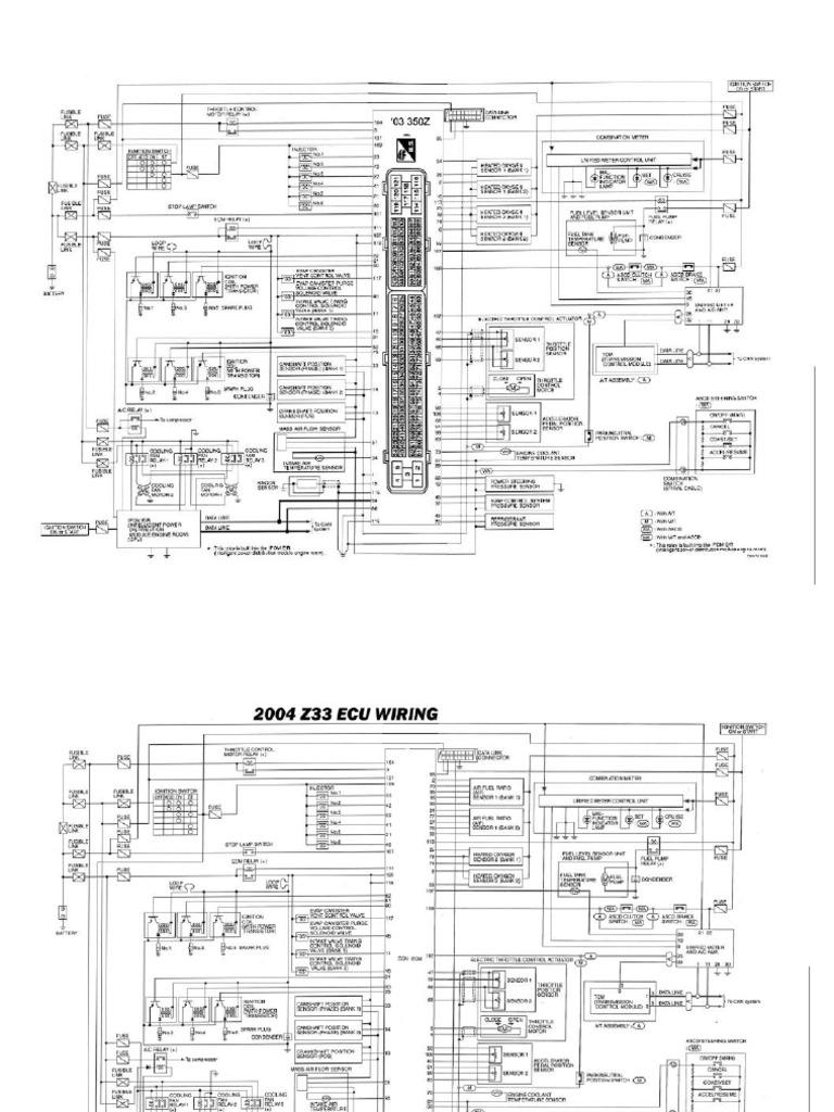 Wiring z33 Ecu