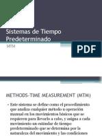 Sistemas de Tiempo Predeterminado, MTM