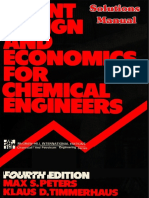 Solution Manual Plant Design and Economics for Chemical Engineers