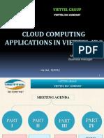 CC Application in Viettel IDC