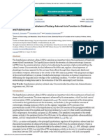 Evaluation of the Hypothalamic-Pituitary-Adrenal Axis Function in Childhood and Adolescence