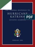 2006 Katrina Lessons Learned 228p