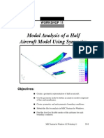 Modal Analysis of a Half