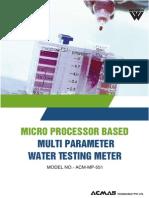 Micro Processor Based Multi Parameter Water Testing Meter