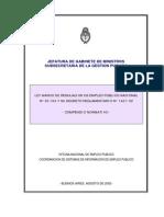 Ley Marco y Reglamentacion Argentina