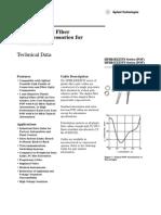 Conector y Cable de Fibra Optica HFBR