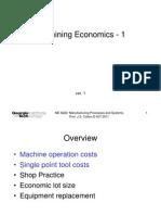 Machining Economics - 1