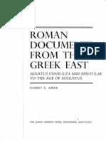Sherk Roman Documents 20-21-43